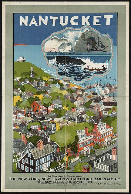 Nantucket, by John Held. via Boston Public Library
