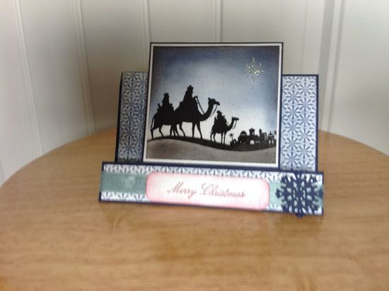 Stampin Up center step Christmas card with three by treehouse05, $3.50