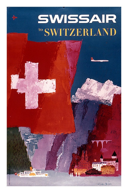 Switzerland #vintage #travel #poster #switzerland