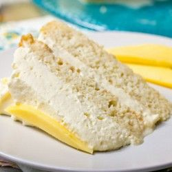 Tres Leches Cake Recipe with Mango Cream - Use SugarTwin® as a substitute for regular sugar for the same sweet taste without the calories - www.sugartwin.com #sugartwin #tresleche #cream #mango