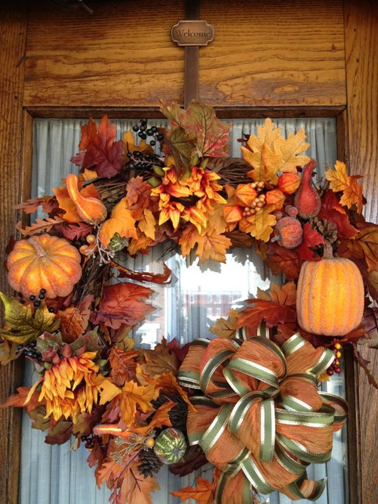 Fall Wreath by bellanoochi on Etsy, $75.00
