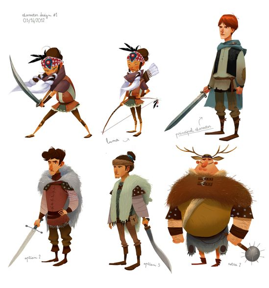 Principal Character Design Concept Art – Julia Sarda