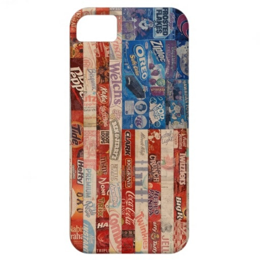 America Flag from Recycled Food Wrappers iPhone 5 Cases