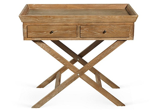 Oak Side Table on Stand. Great nightstand!