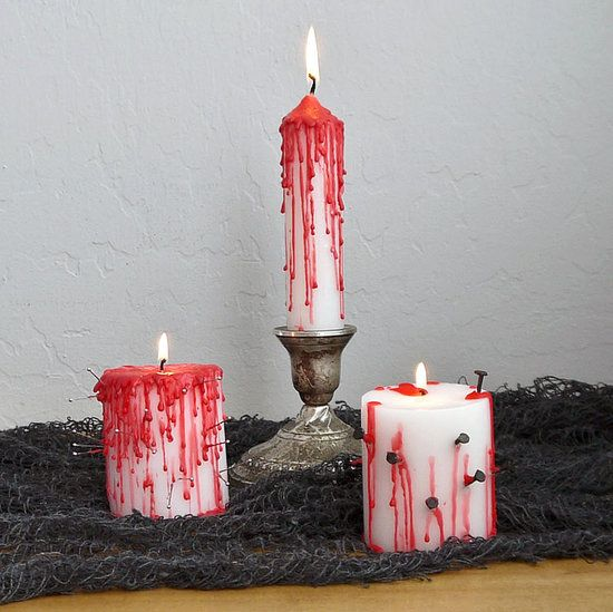 Oh the gore! DIY bleeding candles. #POPSUGARSmartLiving