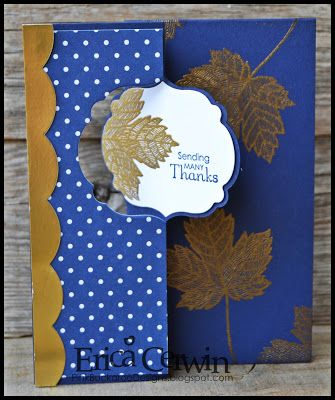 Magnificent Maple in GOLD- September Stamp Club Project