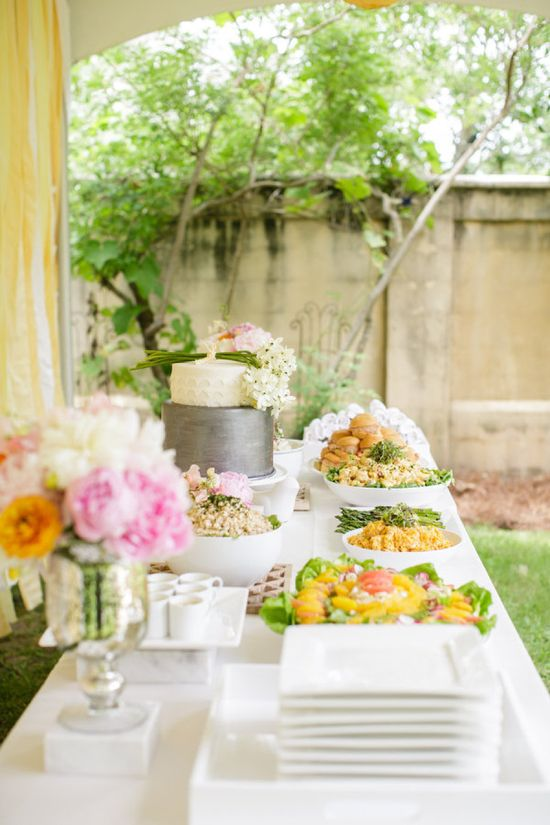 A Pretty, Co-Ed Baby Shower. Photography by greergphotography...  Read more - www.stylemepretty...