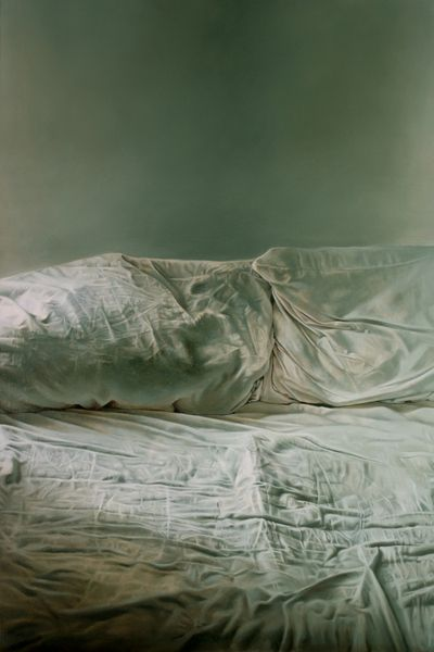 Helen Masacz - Empty Bed / How Can You Sleep At Night. Oil on Board, 70x44 cm