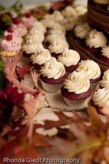 Wedding food station...of course cupcakes!  More Wedding Food Ideas at: www.RealWeddingDa...