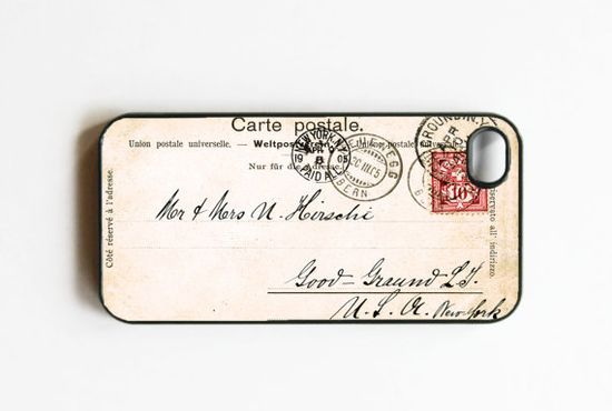 vintage post card iphone case