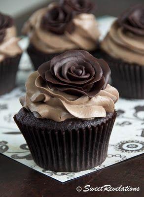 Chocolate with chocolate with a chocolate rose