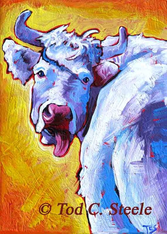 Cow Painting Art Print The Audacity of Hope by TodSteeleAnimalArt