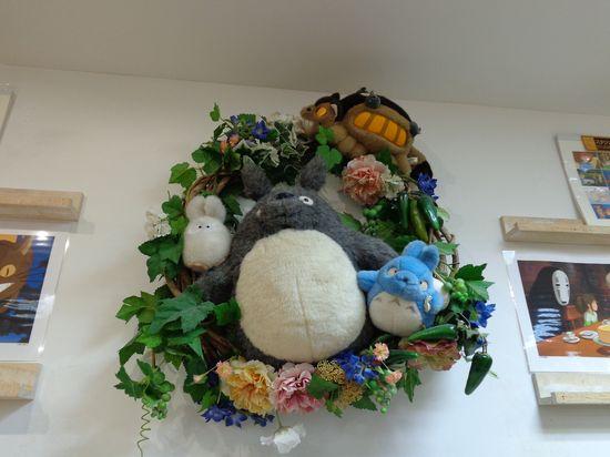 Giant Totoro stuffed animals wreath!
