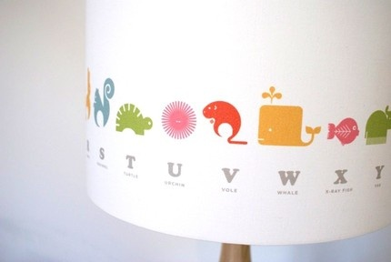 ABC Animal Lampshade.  So cute!