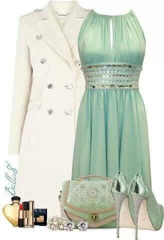 Mint green short dress. You might not think it but I kinda like this!