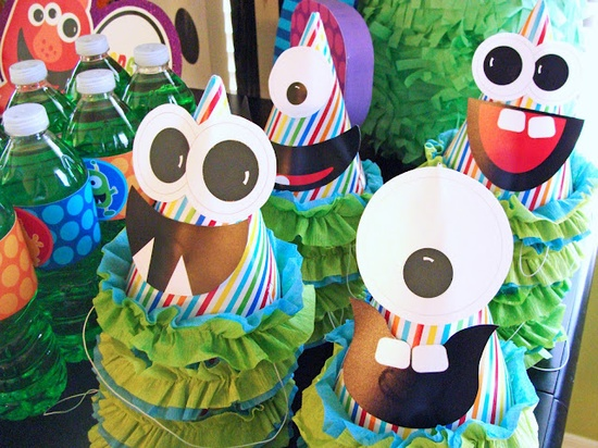 Monster party hats.