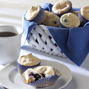 Taste of Home Cupcake Newsletter, July 2012, featuring Blueberry Angel Cupcakes. Get a FREE cupcake recipe in your inbox each month by signing up at www.tasteofhome.c...
