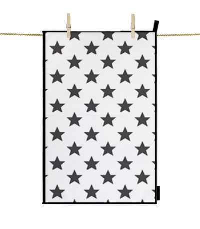 Kitchen Towel Star Black  dettagli home design