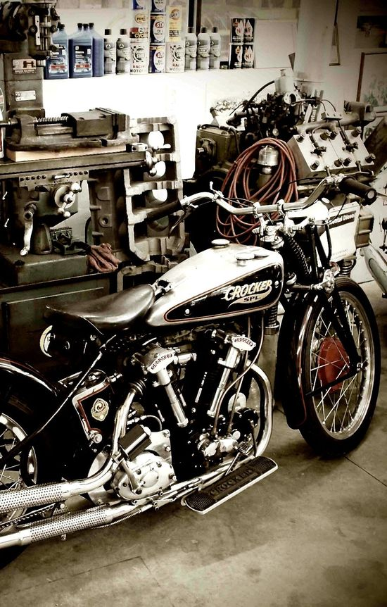 Crocker Motorcycles are made to.... lust over?   not sure about that.  but it is pritty