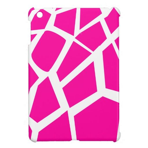 Hot Pink Giraffe Pattern Wild Animal Prints iPad Mini Cover