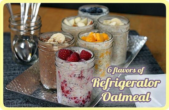 overnight, no cook refrigerator oatmeal. a healthy breakfast made to ...