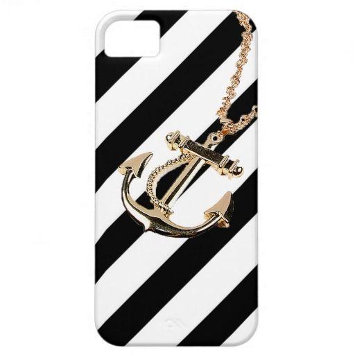 gold anchor iphone case