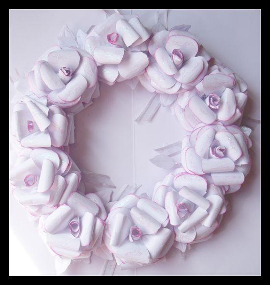 Handmade rose wreath