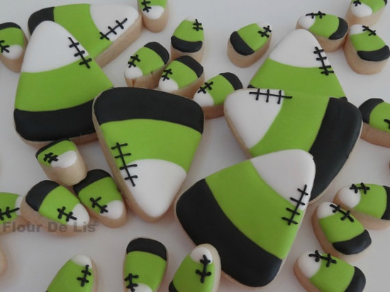 Halloween Party treats: Monster Candy Corn Cookies