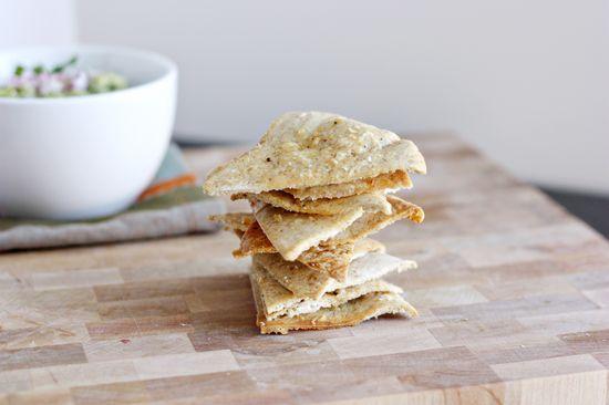 Parmesan Baked Pita Chips