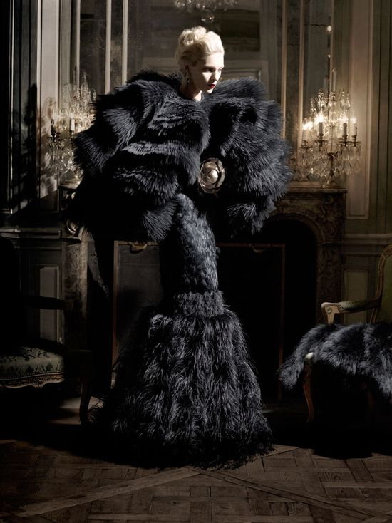 black feather couture