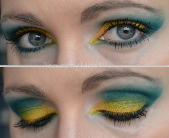 Green & yellow eye makeup