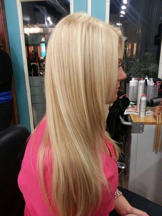 Hair style. Blonde highlights