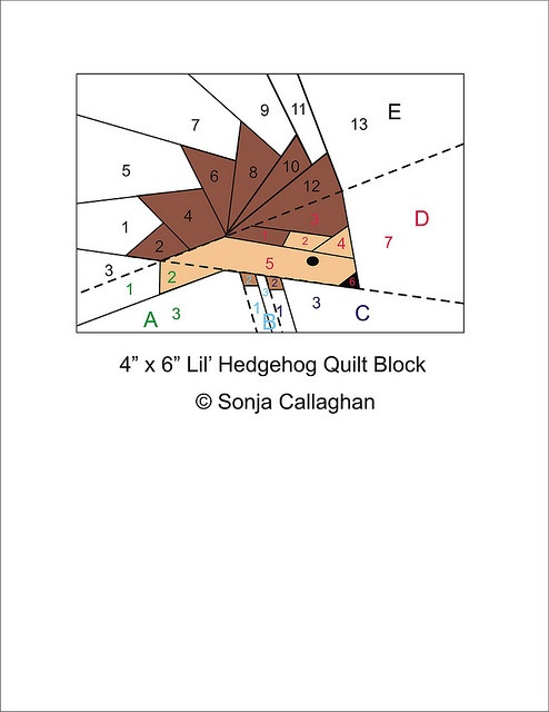Hedgehog Paper Pieced Pattern