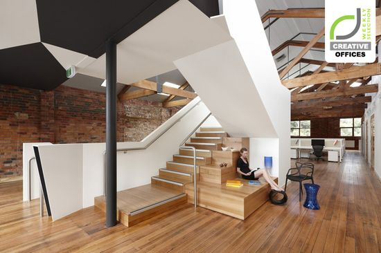 CREATIVE OFFICES! Paper Stone Scissors office by Russell & George, Melbourne » Retail Design Blog