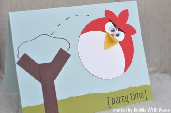 Red Angry Bird Party Invitations/Thank You/Cards