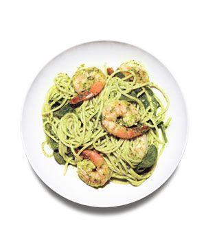 Spaghetti With Spinach Pesto
