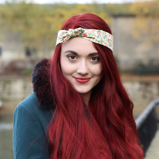 Crown and Glory Hair Accessories — Talulah Ditsy Floral Headscarf