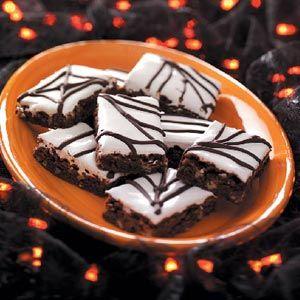 Spiderweb Brownies Recipe from Taste of Home
