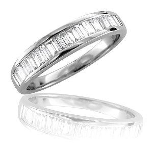 14K White Gold Diamond Wedding Ring Band (GH, SI3-I1, 0.50 carat) Wedding Ring Finger REVIEW