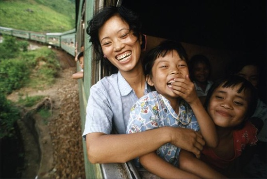 Life Force Magazine. August 2012 issue. EDITOR'S PIC OF THE DAY  After eleven hours of sweltering heat and humidity, traveling at a snail's pace, the air clears and cools as the train flies through Vietnam's mountainous Hai Van Pass, or Pass of the Clouds.  National Geographic photographer, CATHERINE KARNOW's travels through Vietnam. To see more: lifeforcemagazine...