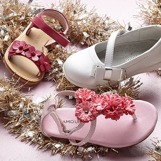 Pink & White: Girls' Shoes