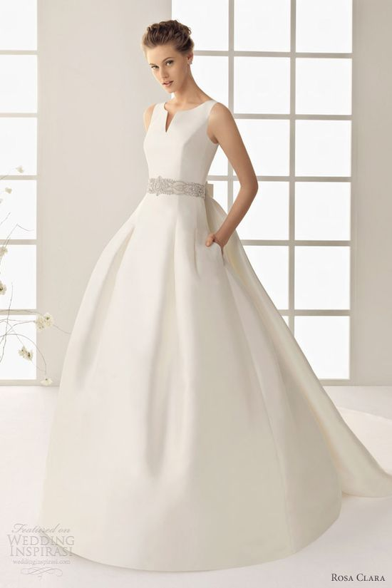 rosa clara wedding dresses 2013 two delfin sleeveless ball gown pocket