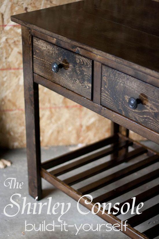Build-it-yourself console table.