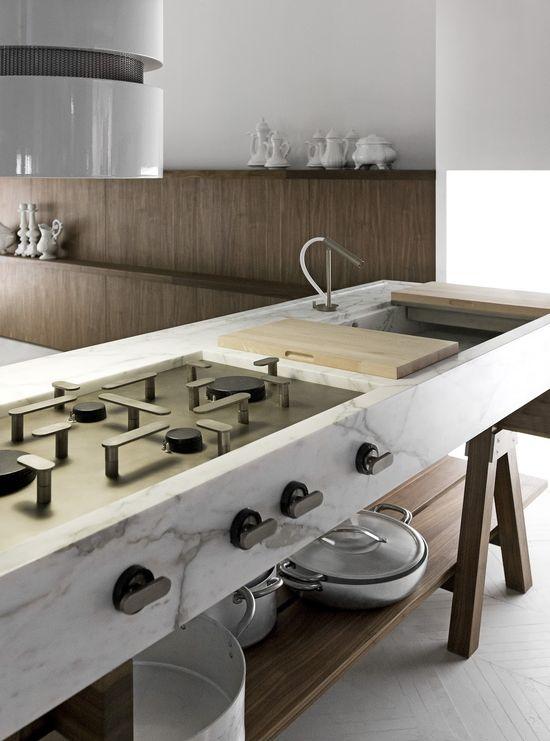 #interior design #kitchen design #style #inspiration #marble countertop - Lando-CONVIVIO-kitchen