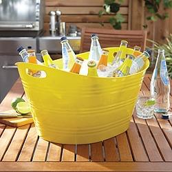 Yellow party tub
