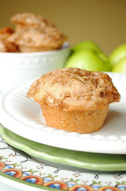 Sweet, fragrant, perfect fall morning fare: Caramel Apple Muffins. #caramel #apples #Halloween #fall #autumn #party #caramel_apples #desserts #food #kids #muffins #breakfast #brunch #snacks