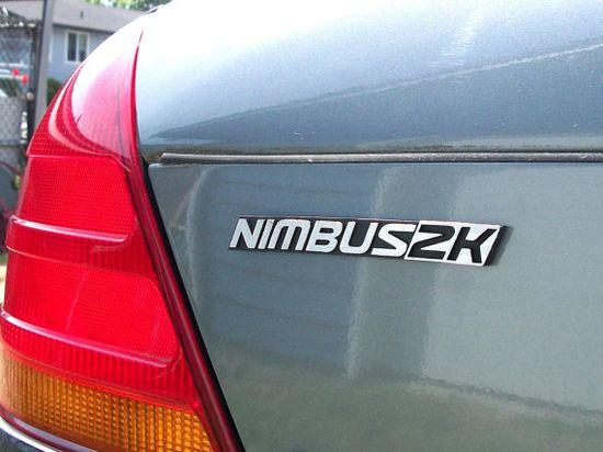 Nimbus 2000 Custom Car Emblem.