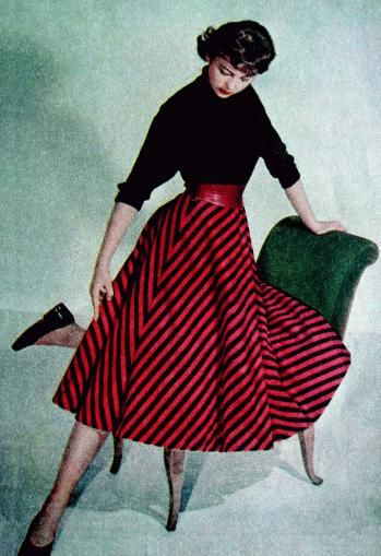 """Image from """"Let's Sew Our Clothes Ourselves at Home."""" Prague (1958, no. 2). #vintage #fashion #1950s"""