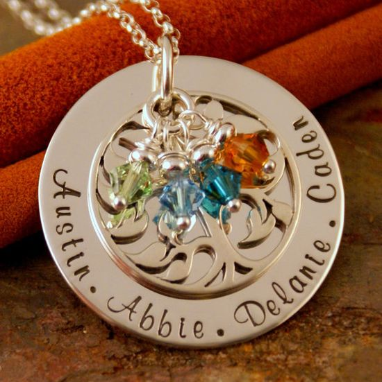 Hand Stamped Mommy Necklace  Personalized by IntentionallyMe, $90.00