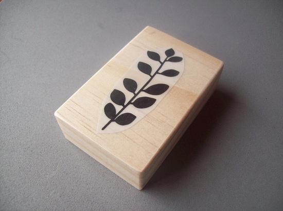 rubber stamp:  leaf